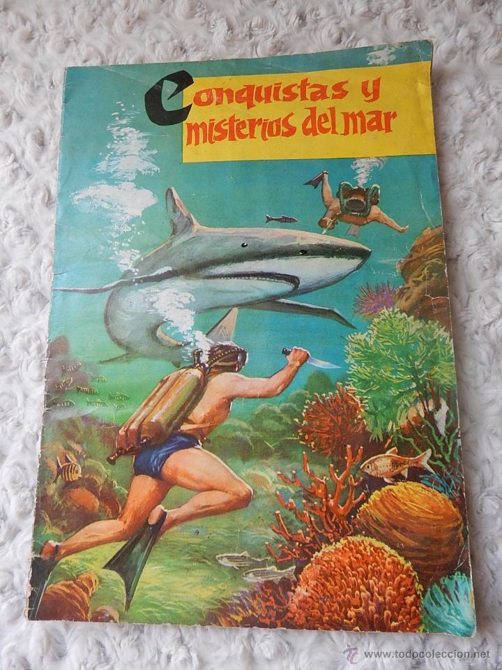 ALBUM DE CROMOS CONQUISTAS Y MISTERIOS DEL MAR (Coleccionismo - Cromos y Álbumes - Álbumes Completos)