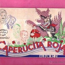 Coleccionismo Álbum: PATENTADO VITA. COLECCIÓN DE CROMOS COMPLETA EN ÁLBUM CAPERUCITA ROJA. INDUSTRIAS GRAFICAS S. H.. Lote 45079779