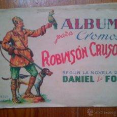 Coleccionismo Álbum: ALBUM ROBINSON CRUSOE, AÑOS 40. COMPLETO, 72 CROMOS., CON VIÑETAS EXPLICATIVAS. Lote 45394340