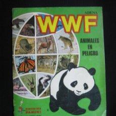 Coleccionismo Álbum: ALBUM WWF ANIMALES EN PELIGRO. PANINI.360 CROMOS.FALTAN 3 ADHESIVOS DEL POSTER CENTRAL.. Lote 45498552