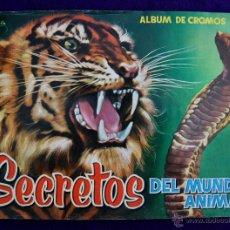 Coleccionismo Álbum: ALBUM SECRETOS DEL MUNDO ANIMAL. COMPLETO. CON 326 CROMOS (TODOS ORIGINALES). AÑO 1958. EDIT ROLLAN. Lote 45665457