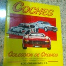 Coleccionismo Álbum: ALBUM COCHES - MOTOR 16 - EDICIONES UNIDAS SA 1986 - COMPLETO. Lote 45726801