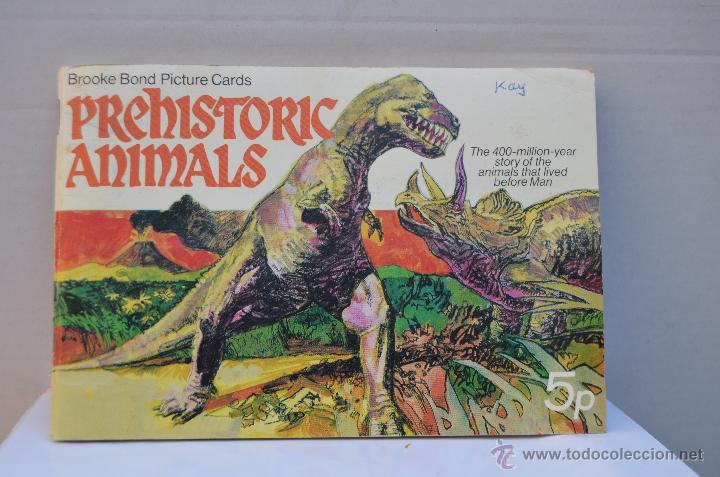 ALBUM DE CROMOS INGLES ( PREHISTORIC ANIMALS ) COMPLETO (Coleccionismo - Cromos y Álbumes - Álbumes Completos)