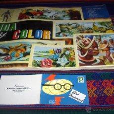 Coleccionismo Álbum: VIDA Y COLOR 1 COMPLETO 380 CROMOS CON CARNET SOCIO. REGALO GEO CIENCIAS INCOMPLETO.. Lote 46187031