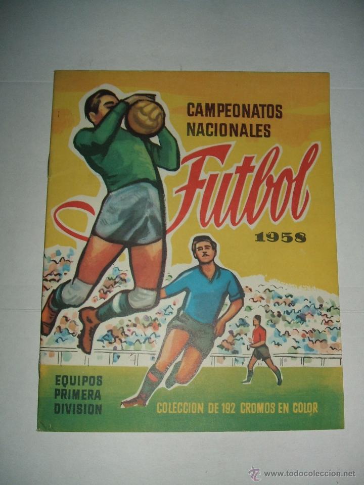 ALBUM CAMPEONATO DE LIGA 1958 DE EDITORIAL RUIZ ROMERO EN PLANCHA (Coleccionismo - Cromos y Álbumes - Álbumes Completos)