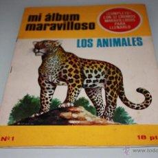 Coleccionismo Álbum: MI ÁLBUM MARAVILLOSO - LOS ANIMALES - AÑO 1966 - EYDER. Lote 46404535