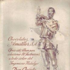 Coleccionismo Álbum: INGENIOSO HIDALGO DON QUIJOTE DE LA MANCHA - ÁLBUM COMPLETO. Lote 151421646