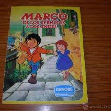 Coleccionismo Álbum: MARCO DE LOA APENINOS A LOS ANDES COMPLETO 84 CROMOS DE DANONE. Lote 47193359