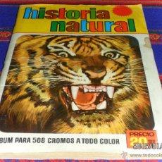 Coleccionismo Álbum: HISTORIA NATURAL COMPLETO 508 CROMOS. BRUGUERA 1967. BUEN ESTADO.. Lote 47328126