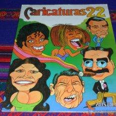 Coleccionismo Álbum: CARICATURAS 22 COMPLETO 210 CROMOS. CROMOS ROS 1987. MUY BUEN ESTADO. . Lote 161451608