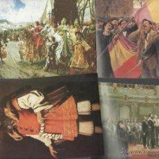 Coleccionismo Álbum: COLECCION COMPLETA DE POSTALES CROMO DEL ALBUM CULTURAL DE LA HISTORIA DE ESPAÑA DE 96 CROMOS. Lote 47366664