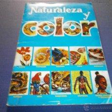 Coleccionismo Álbum: ALBUM COMPLETO NATURALEZA Y COLOR EDITORIAL CAREN . Lote 47453127