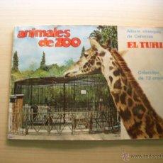Coleccionismo Álbum: ANIMALES DE ZOO, ALBUM DE CROMOS COMPLETO, CERVEZAS TURIA. Lote 47628388