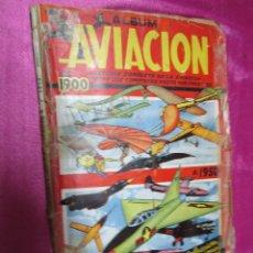 Coleccionismo Álbum: LA AVIACION DE 1900 A 1950 ALBUM DE CROMOS COMPLETO CLIPER. Lote 47972640