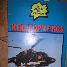Coleccionismo Álbum: AVIACION ANTIGUO ALBUM CROMOS HELICOPTEROS MI ALBUM DE CROMOS COMPLETO. Lote 48106167