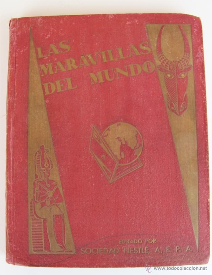 LAS MARAVILLAS DEL MUNDO DE NESTLE 1932 ALBUM COMPLETO 480 CROMOS 40 SERIES DE 12 CROMOS (Coleccionismo - Cromos y Álbumes - Álbumes Completos)