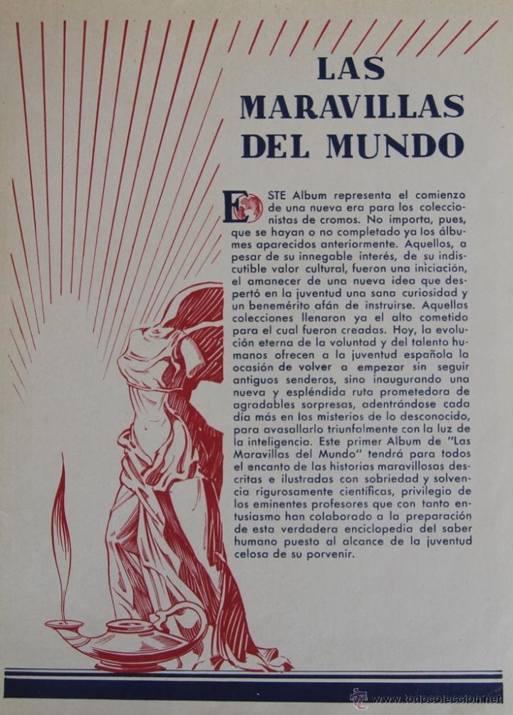 Coleccionismo Álbum: LAS MARAVILLAS DEL MUNDO DE NESTLE 1932 ALBUM COMPLETO 480 CROMOS 40 SERIES DE 12 CROMOS - Foto 5 - 48149263