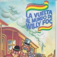 Coleccionismo Álbum - DANONE ALBUM DE CROMOS COMPLETO SERIE TELEVISION VUELTA MUNDO WILLY FOG MBE - 48324551