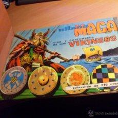 Coleccionismo Álbum: VIDA Y COSTUMBRES DE LOS VIKINGOS (MAGA) ALBUM COMPLETO CON LOS 216 CROMOS, AÑO 1965. (COIB89).. Lote 48525583
