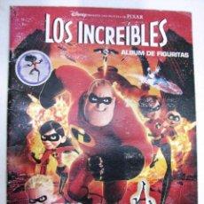 Coleccionismo Álbum: ALBUM 186 CROMOS COMPLETO LOS INCREIBLES DISNEY PELICULA PIXAR. Lote 120267980