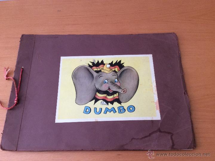 ALBUM DE CROMOS COMPLETO DUMBO WALT DISNEY COLECCION DE BEUKELAER´S 125 CROMOS AÑOS 40 (Coleccionismo - Cromos y Álbumes - Álbumes Completos)