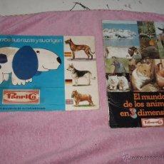 Coleccionismo Álbum: ALBUM EL MUNDO DE LOS ANIMALES EN 3D PANRICO. Lote 124191242