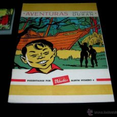 Coleccionismo Álbum: ALBUM AVENTURAS DEL CAPITÁN DURÁN. CHOCOLATES VILADÁS, LÉRIDA, COMPLETO. AÑOS 50. CROMOS SIN PEGAR!. Lote 48998941