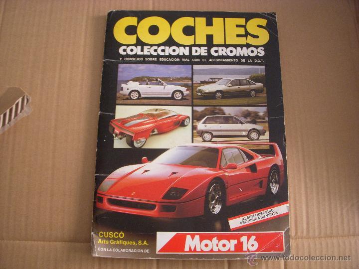 COCHES, ALBUM DE CROMOS COMPLETO, DE CUSCÓ ARTS GRÁFIQUES (Coleccionismo - Cromos y Álbumes - Álbumes Completos)
