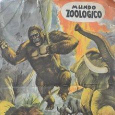 Coleccionismo Álbum: ALBUM CROMOS COMPLETO MUNDO ZOOLÓGICO. Lote 49564736