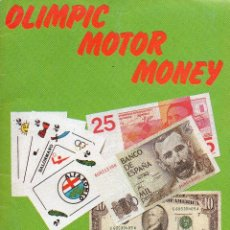 Coleccionismo Álbum: ALBUM CROMOS BILLETESOLIMPIC MOTOR MONEY COMPLETO. Lote 76824914