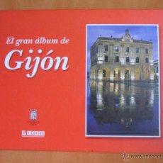 Coleccionismo Álbum: EL GRAN ALBUM DE GIJON. COLECCIONABLE DEL DIARIO EL COMERCIO, COMPLETO. 2002. TAPA DURA.. Lote 49948244