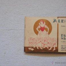 Coleccionismo Álbum: ALBUM BLANCANIEVES Y LOS SIETE ENANOS COMPLETO FHER BILBAO AÑOS 40. Lote 50071094