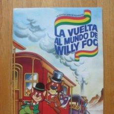 Coleccionismo Álbum: ALBUM LA VUELTA AL MUNDO WILLY FOG, DANONE, COMPLETO. Lote 50201944