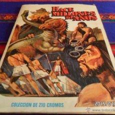 Coleccionismo Álbum: HACE MILLONES DE AÑOS COMPLETO 210 CROMOS DE CARTÓN. RUIZ ROMERO 1983. BUEN ESTADO. RARO.. Lote 50215649