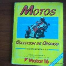 Coleccionismo Álbum: ALBUM MOTOS - MOTOR 16 - EDIC. UNIDAS 1987 (A-3). Lote 50352053