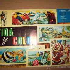 Coleccionismo Álbum: VIDA Y COLOR. [ÁLBUM DE CROMOS COMPLETO]. Lote 50573412