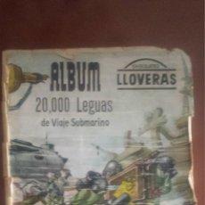 Coleccionismo Álbum: 20.000 LEGUAS DE VIAJE SUBMARINO - ALBUM DE CROMOS COMPLETO - LLOVERAS. Lote 50697466