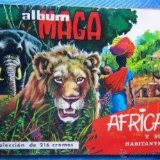 Coleccionismo Álbum: AFRICA Y SUS HABITANTES. COLECCION COMPLETA DE 216 CROMOS. EDITORIAL MAGA. VALENCIA, 1965.. Lote 50740236