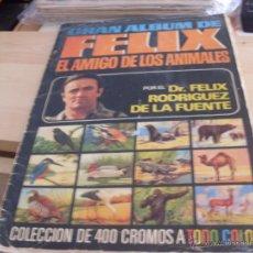 Coleccionismo Álbum: FELIX EL AMIGO DE LOS ANIMALES GRAN ALBUM COMPLETO 400 CROMOS COLOR (ALB5). Lote 50987135