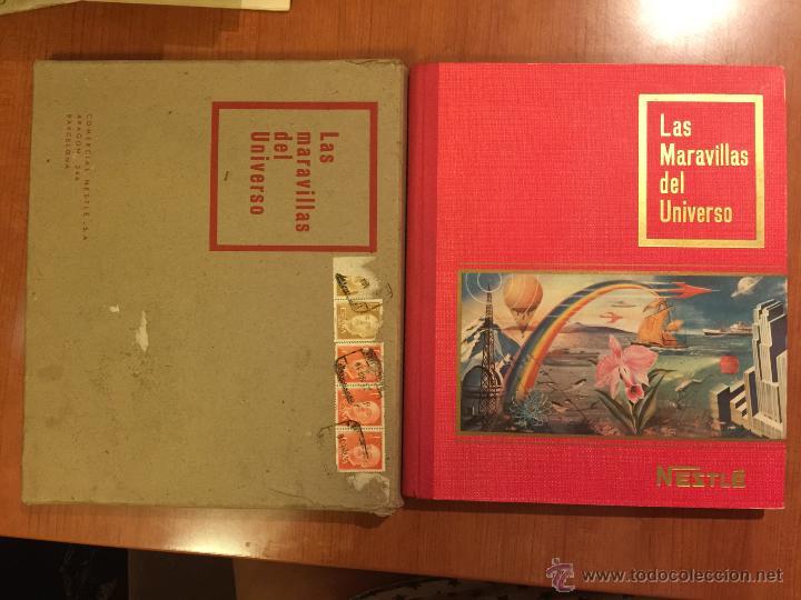 ESPECTACULAR ALBUM LAS MARAVILLAS DEL UNIVERSO COMPLETO. CON SOBRE DE ENVIO ORIGINAL. (Coleccionismo - Cromos y Álbumes - Álbumes Completos)