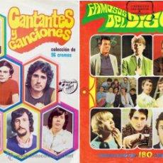 Coleccionismo Álbum: COLECCION COMPLETA CANTANTES Y CANCIONES 1972 Y 100 CROMOS FAMOSOS DEL DISCO 1968 ESTE Y 2 ALBUM VAC. Lote 51194916