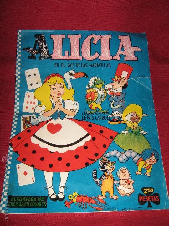 ALBUM COMPLETO DE ALICIA EN EL PAIS DE LAS MARAVILLAS DE CLIPER - GERPLA - EL DE LAS FOTOS (Coleccionismo - Cromos y Álbumes - Álbumes Completos)