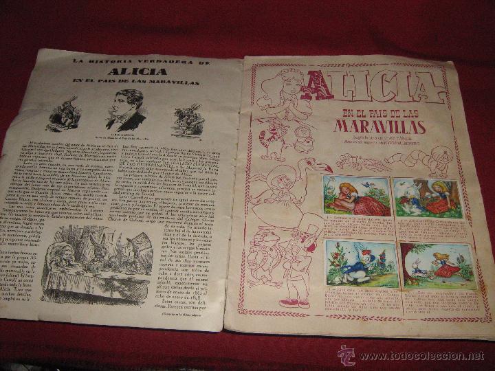 Coleccionismo Álbum: ALBUM COMPLETO DE ALICIA EN EL PAIS DE LAS MARAVILLAS DE CLIPER - GERPLA - EL DE LAS FOTOS - Foto 10 - 51389060