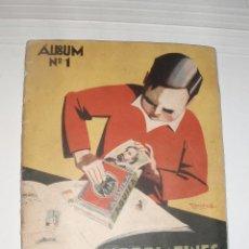 Coleccionismo Álbum: BONITO ANTIGUO ALBUM Nº 1 CHOCOLATES AGUILA SAINT URUGUAY COMPLETO. Lote 51633565