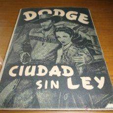 Coleccionismo Álbum: ALBUM DE CROMOS DODGE CIUDAD SIN LEY - EDT. FHER - 180 CROMOS - 1949 - COMPLETO.. Lote 51766455