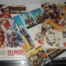 Coleccionismo Álbum: ALBUM BIMBO EL PORQUE DE LAS COSAS Y Nº 2 Y COMPLETOS Y LA VUELTA AL MUNDO CON BIMBO INCOMPLETO. Lote 51775422