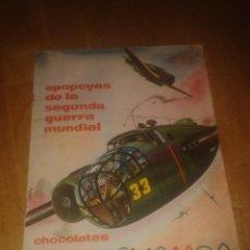 Coleccionismo Álbum: ALBUM COMPLETO EPOPEYAS DE LA SEGUNDA GUERRA MUNDIAL CHOCOLATES TUPINAMBA. Lote 52287643