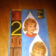 Coleccionismo Álbum: ALBUM COMO DOS GOTAS DE AGUA. PILI Y MILI. EDITORIAL FHER. COMPLETO + SOBRE CROMOS. Lote 52288252