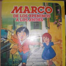 Coleccionismo Álbum: ALBUM CROMOS MARCO DE LOS APENINOS A LOS ANDES DANONE COMPLETO. Lote 52302084