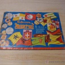 Coleccionismo Álbum: ANTIGUO ALBUM DE CROMOS DE COLECCION UNIVERSAL. COMPLETO. BANDERAS, ESCUDOS, MONEDAS, MAPAS. Lote 56126476